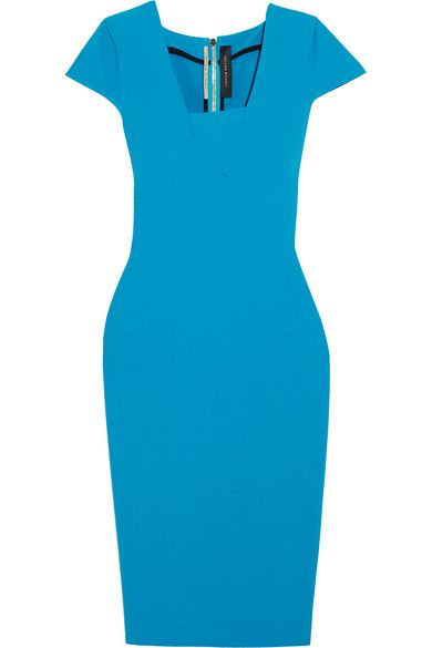 Roland Mouret - Whistler Stretch-crepe Dress - Blue - UK