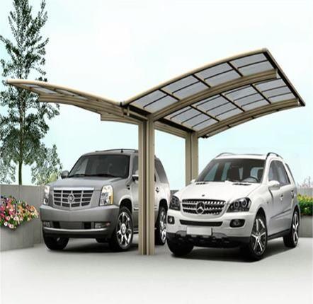 Garagem em policarbonato para dois carros