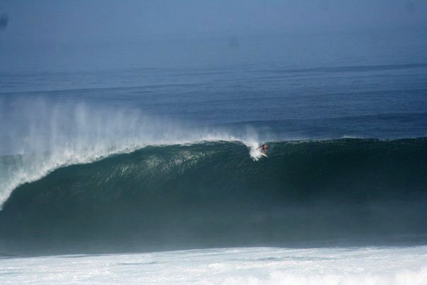 Biggest wave ever caught at T-Land, surfer 'Gnarly-Man', and he made it... on a 6'3!!