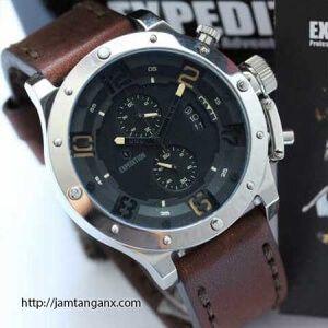 jam tangan expedition E6381 original silver-coklat