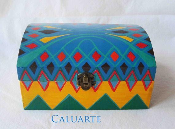 Caja pintada a mano, Madera, Cajas