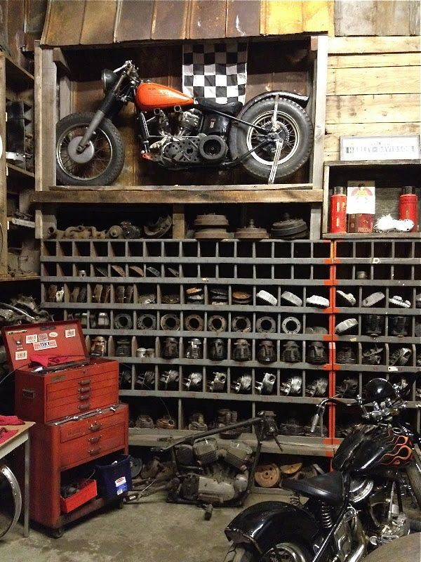 .: Man Cave, Old Motorcycles, Motorbike, Stuff, Bikes, Garages, Cars, Cafe Racers