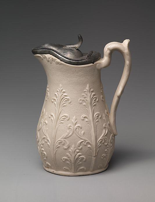 U S Pottery 1852 1858 Syrup Pitcher Bennington Vermont