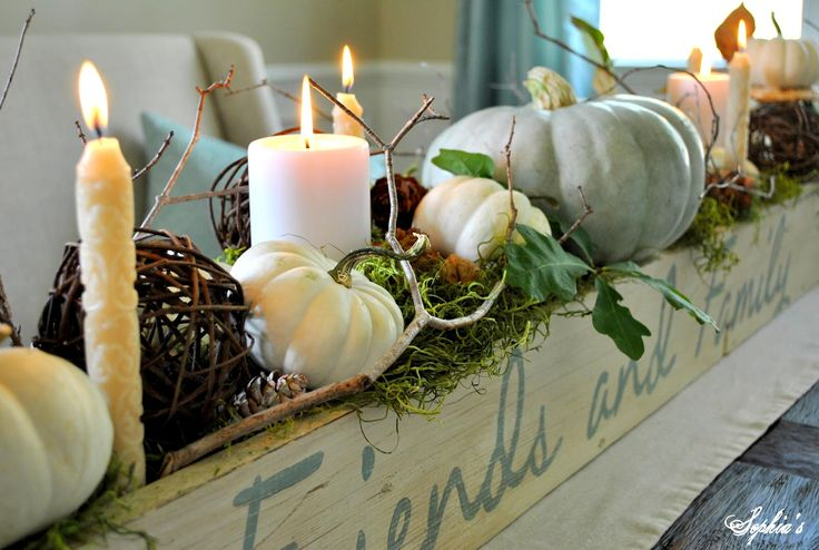 fall centerpieces for dining table | fall table centerpiece my fall mantels 2012 christmas vignette ideas