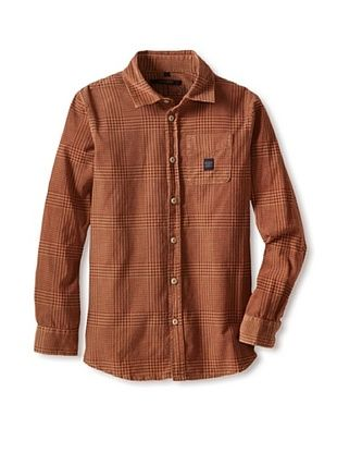 60% OFF Silvian Heach Boy's Plaid Corduroy Shirt (Fantasy Only)