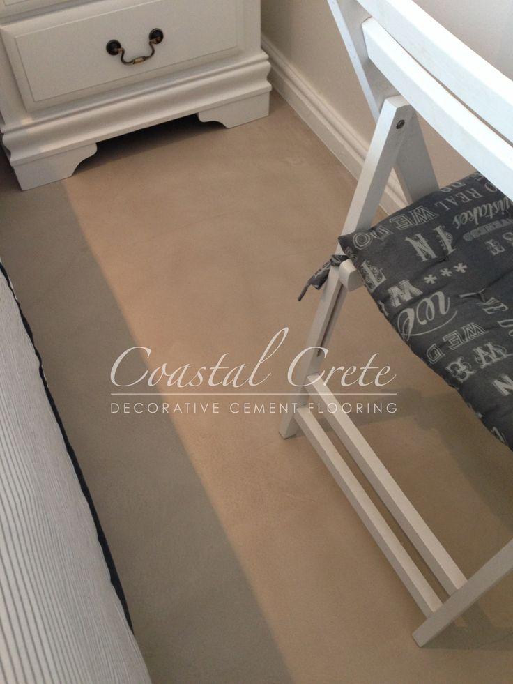Coastal Crete Flooring | Taupé Colour Floor Plaster | Smooth | Seamless