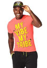 Men Fitness Clothing | Zumba Clothing | Zumba Fitness l My Vibe My Tribe Tee l #zumba