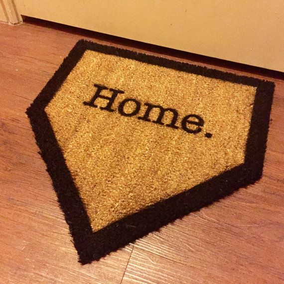 Home Plate Baseball Welcome Mat by RedRoomDesignStudio on Etsy