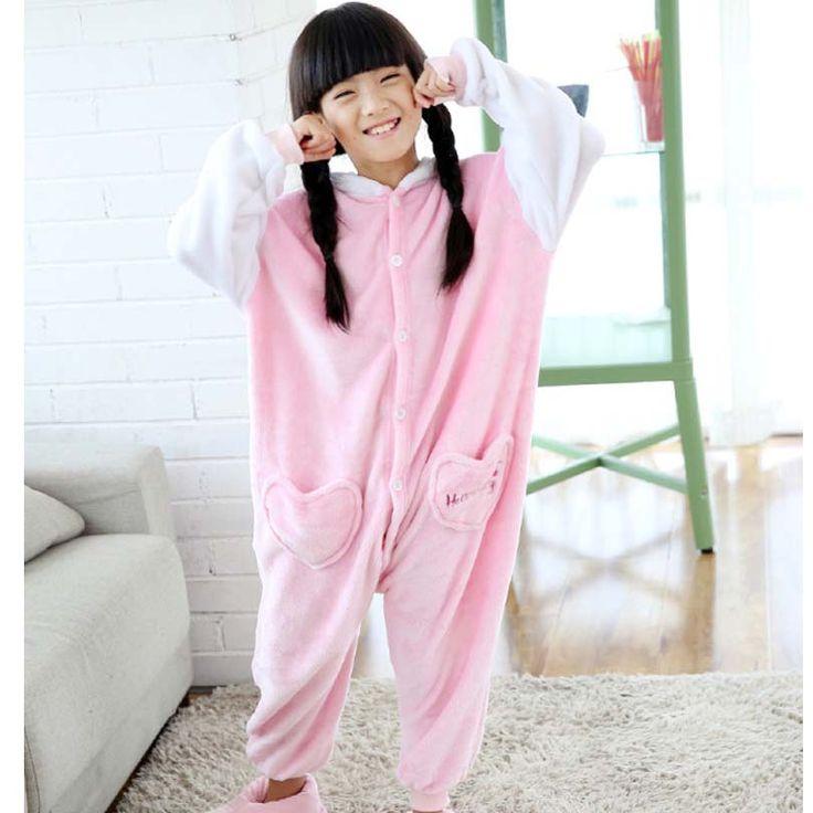 Hello Kitty Overalls Jumpsuit Kids Pijama Children Animal Cosplay Costume Kigurumi Unisex Onesie Pijama Blanket Sleepers Pajamas