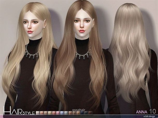 The Sims Resource Anna N10 Hair By S Club Sims 4 Hairs Sims4hairs Com Womens Hairstyles Hair Styles Sims Hair