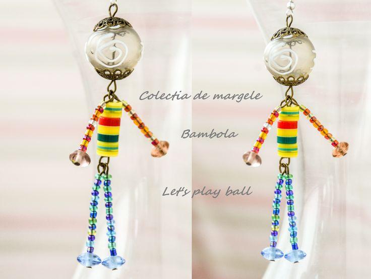 Bambola Let's play ball by Colectia de margele  Please visit https://www.facebook.com/pages/Colectia-de-margele/1392796917646011
