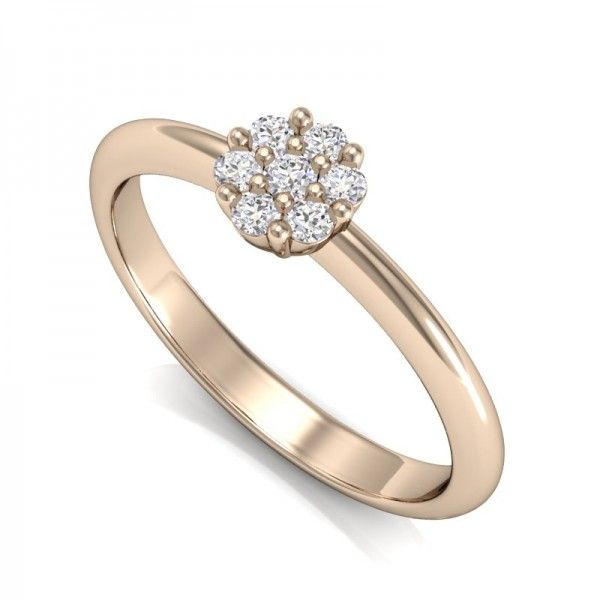 Der Verlobungsring 7Diamonds besitzt 7 kleine Diamanten, wodurch der Ring wie ein großer Diamant wirkt. Atemberaubend schön. #love #mariage #forever #lucky #happy #diamond #wedding #ring