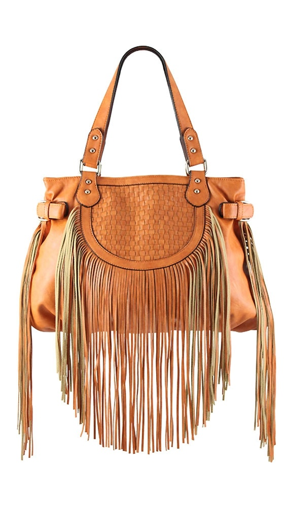 Pauline Fringe Shoulder Bag by Melie Bianco
