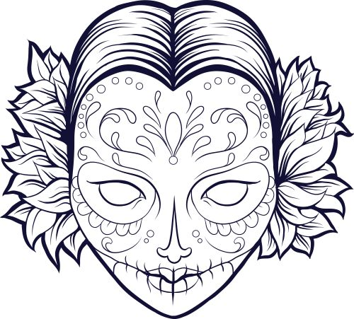 fill in this beautiful free sugar skull coloring page with vibrant colors today advancedcoloring