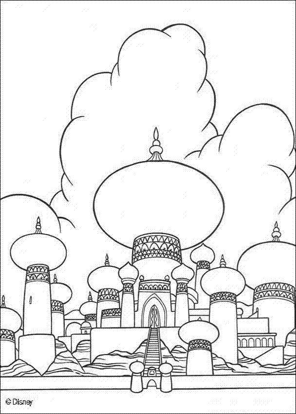 29 Best Aladdin Coloring Sheets Images On Pinterest