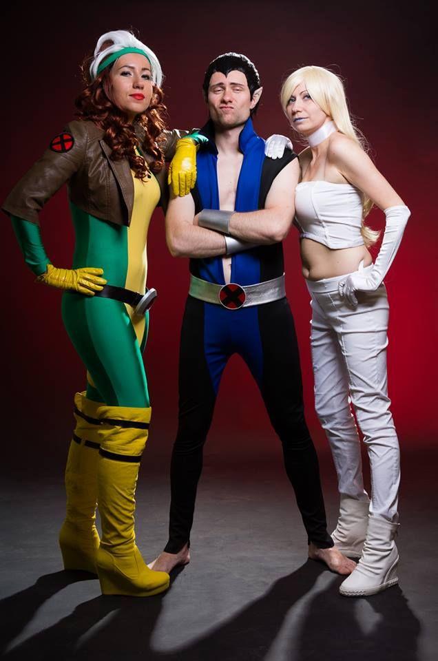 x-men Rogue Namor Emma Frost cosplay