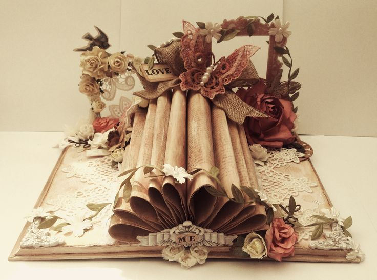 My altered vintage book deigned for Tresors de luxe Etsy shop