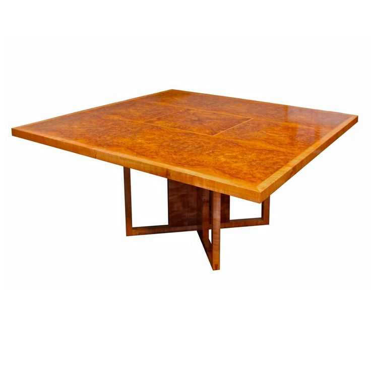 Square Burl Myrtle Dining Table by Anton Gerner - bespoke contemporary furniture melbourne