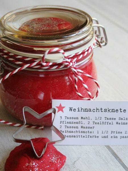 Weihnachtsknete - Geschenk