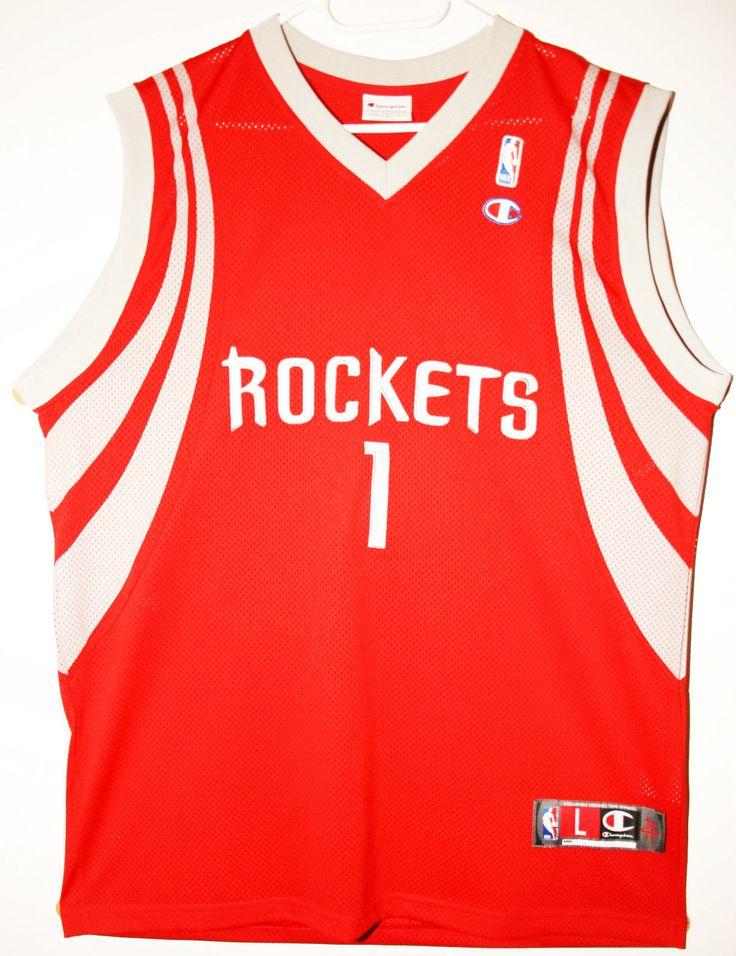 28f32213a ... Champion NBA Basketball Houston Rockets 1 Tracy McGrady Authentic  Trikot Jersey Size 44 - Women Red ...