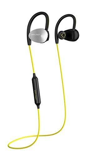 Bluetooth HeadphonesSDFLAYER IronFist Wireless Earbuds Heavy Bass Noise Cancellation with Microphone Stereo Headset Earphones For Running & Gym (Yellow)