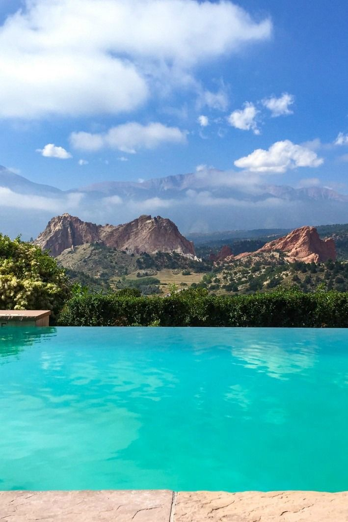 The Greatest Pool View Of All Time The Garden Of The Gods Club In