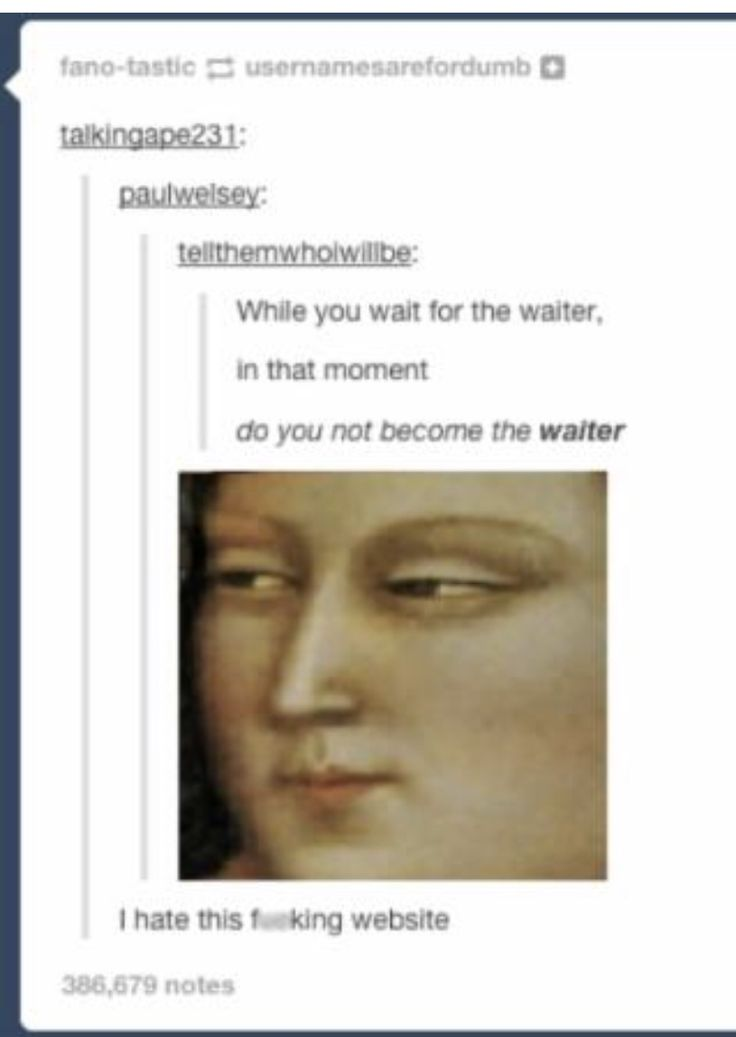 You become the waiter