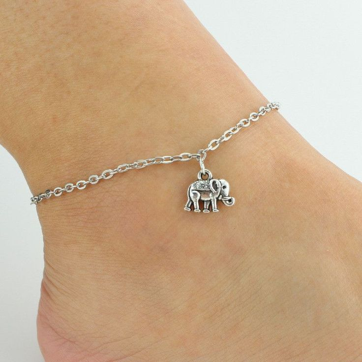 Ass 925silver Womens Anklet Foot Chain with Zirconia Heart FsFQ5