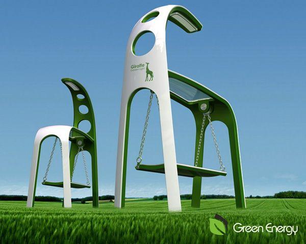 Swing Green..  A Solar + Kinetic Energy Harnessing Swing..!!