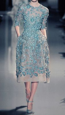Inspired: Dresses you'd find in Elsa's wardrobe. [Haute Couture designs by Elie Saab and Zuhair Murad. 2/8