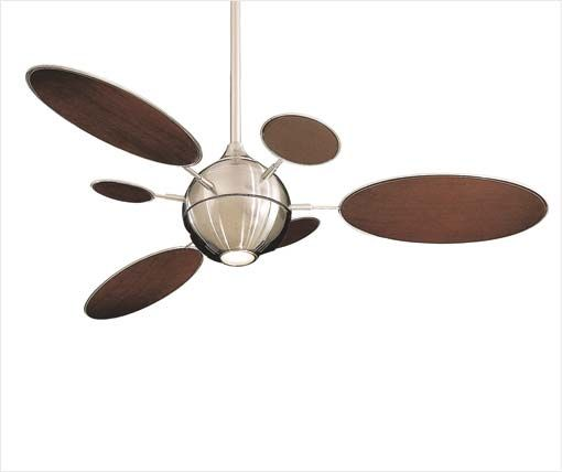 Cirque Ceiling Fan- Very cool, kinda mid century look to it...for a modern look without the overly industrial