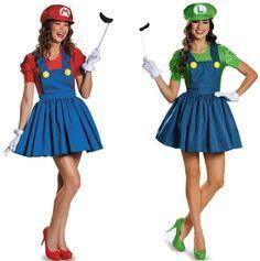 Sexy Damen Damenmode Super Mario Luigi Bros. Kostüm Kleid Xmas Party in Kleidung & Accessoires, Kostüme & Verkleidungen, Kostüme | eBay