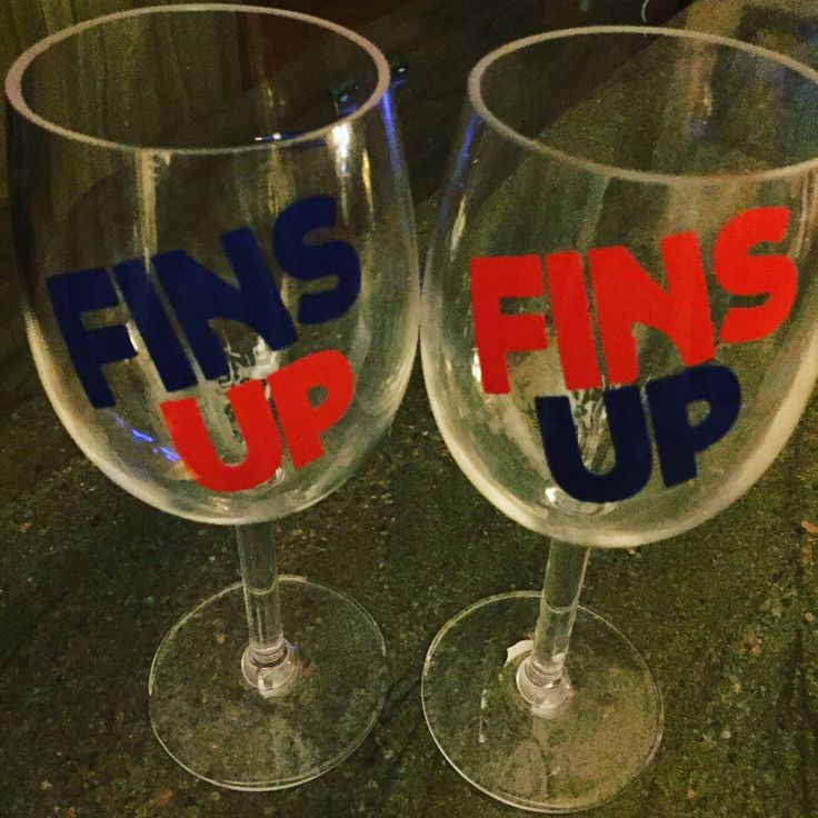 A personal favorite from my Etsy shop https://www.etsy.com/listing/551123088/acrylic-wine-glass-customized-fins-up