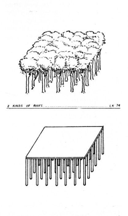 Leon Krier, 2 Kinds of Roofs, 1974