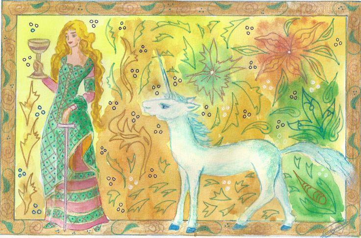 Damoiselle à la licorne