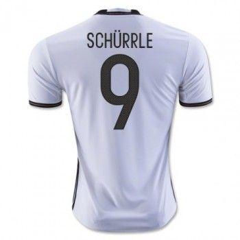 Tyskland 2016 Schurrle 9 Hemmatröja Kortärmad   #Billiga  #fotbollströjor