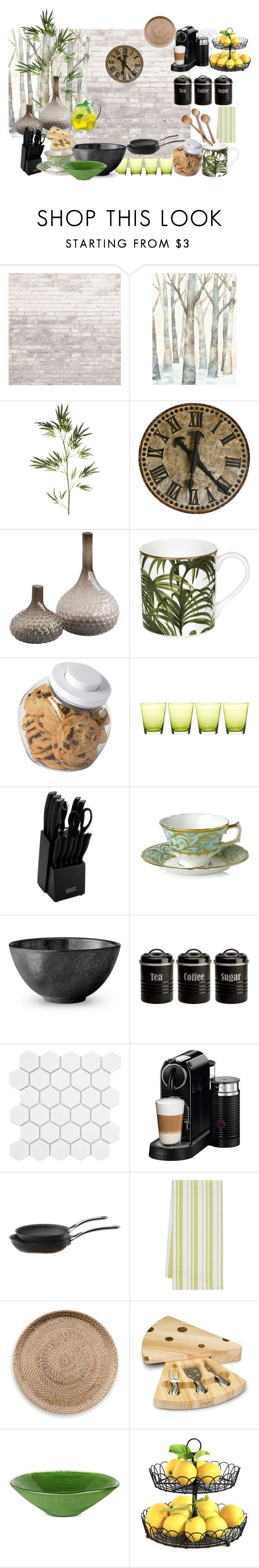 """cocin"" by thais-nc ❤ liked on Polyvore featuring interior, interiors, interior design, home, home decor, interior decorating, WALL, Pier 1 Imports, House of Hackney and OXO"