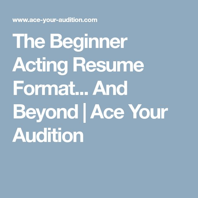 Oltre 25 fantastiche idee su Acting resume su Pinterest - actor resume format