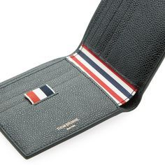 Thom Browne Classic Billfold Wallet (Black Pebble Grain)                                                                                                                                                                                 More