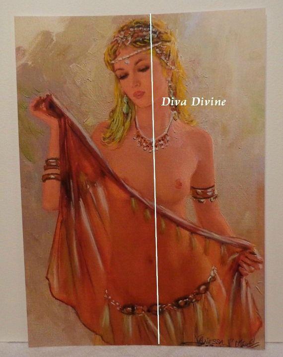Pastel Sec pour Tableau Bohème, Portrait ° VANESSA ° - PEINT A LA MAIN