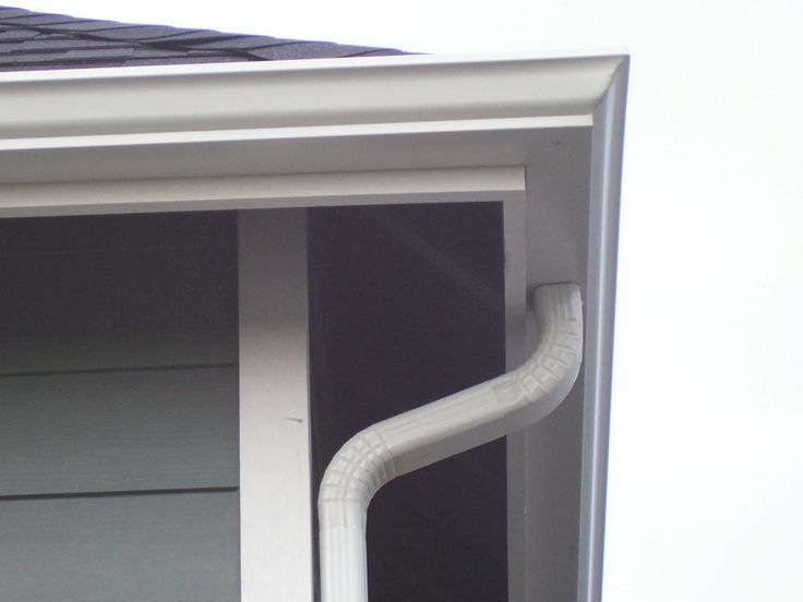 How to Install Gutters: How To Install Gutters With White Pipe Gutter Luxurious Decor