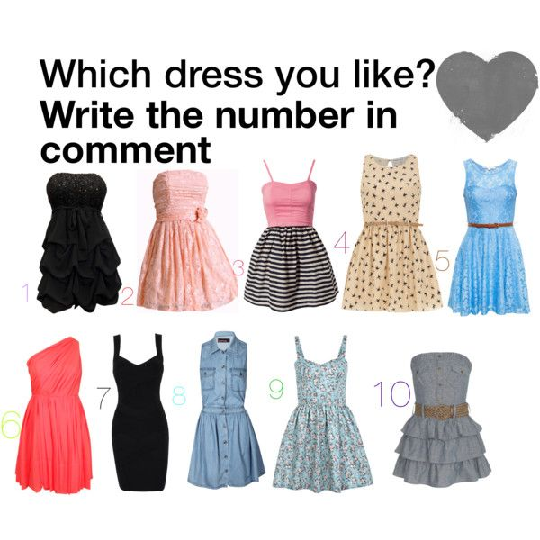 """Which dress do you like? Write the number in comment"""