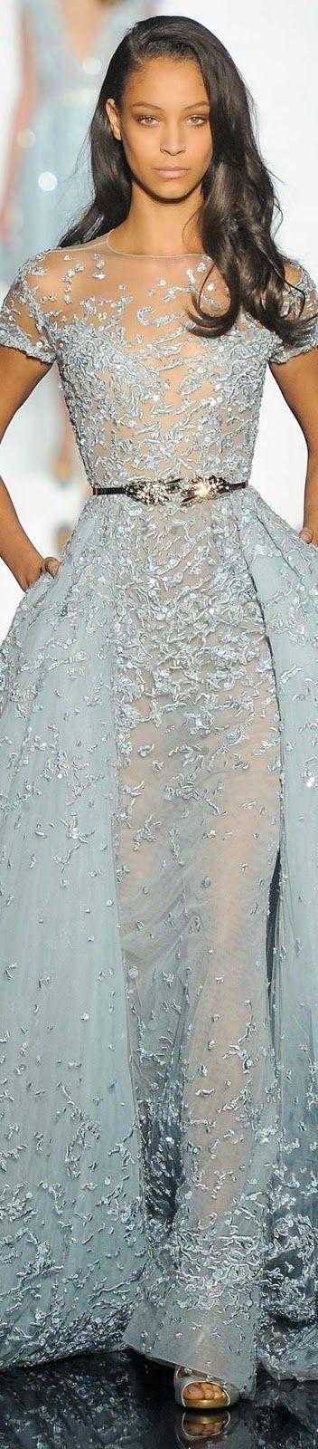 Beautiful Light Blue Designer Dress