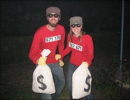 disfraz de ladron de bancos