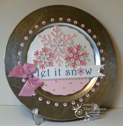 Charger Plate by stampercamper - Cards and Paper Crafts at Splitcoaststampers