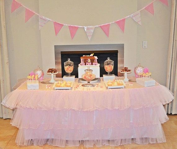 TuTu Tablecloth by CandyCrushEvents on Etsy, $195.95
