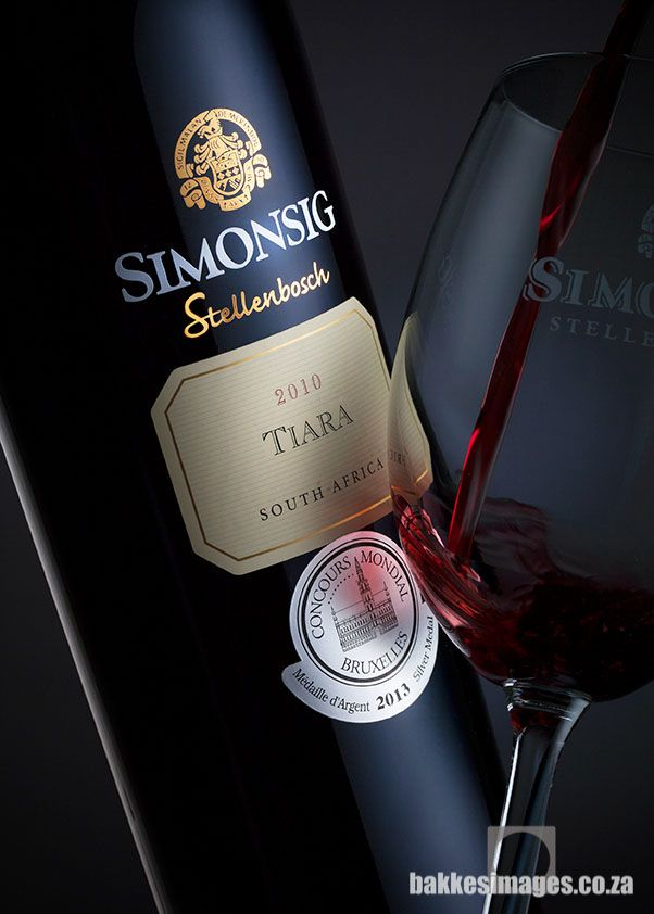 Wine Photography for Marketing & Advertising: Simonsig Wine Estate, South Africa. Tiara 2010.