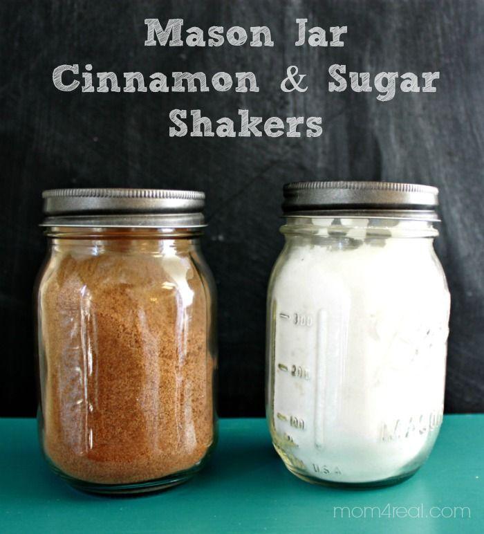 Mason Jar Cinnamon and Sugar Shakers