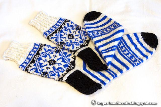 Rahvusliku mustriga sokid / National Pattern Socks