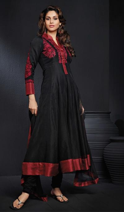 G3 Fashions Black Cotton Wedding Wear Designer Salwar Suit  Product Code : G3-LSA104428 Price : INR RS 7878